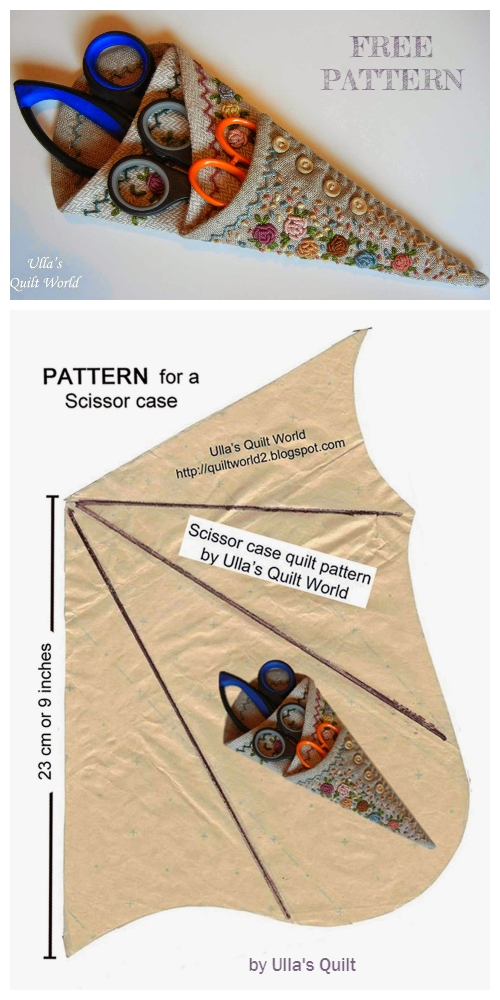 DIY Origami Scissor Case Free Sewing Patterns
