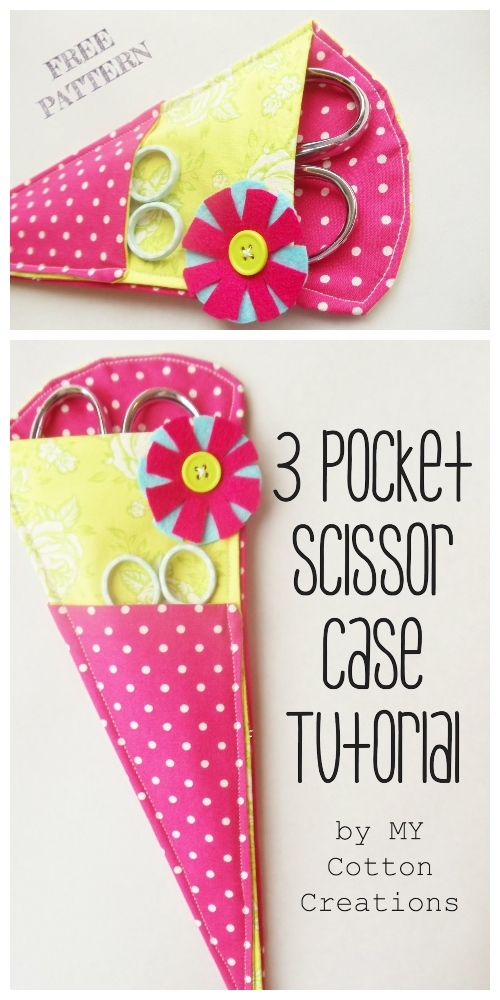 DIY Origami Scissor Case Free Sewing Pattern & Tutorial
