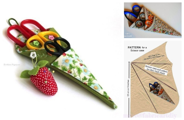 DIY Origami Scissor Case Free Sewing Patterns