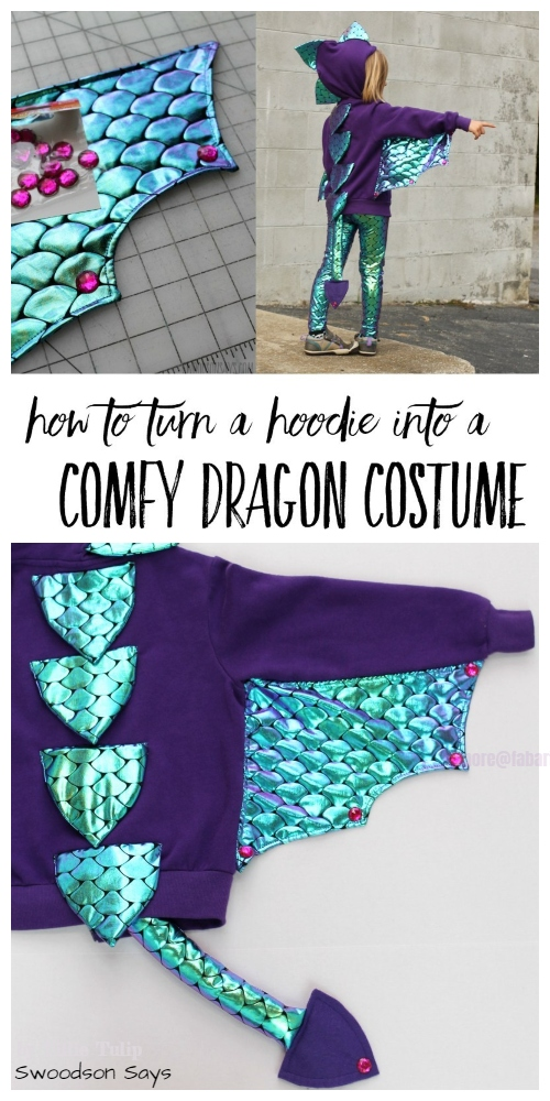 Halloween Dragon Costume From a Hoodie DIY Tutorial