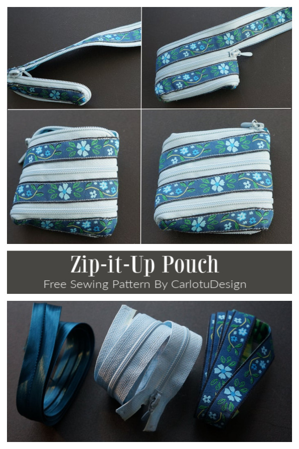 DIY Zip-it-up Pouch Around Pouch Free Sewing Tutorial