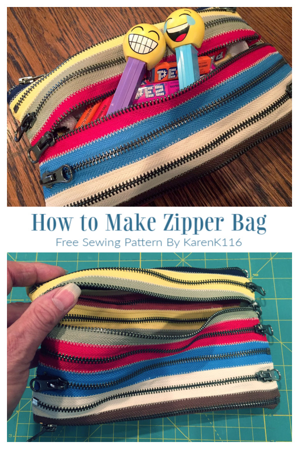 DIY All Zipper Around Pouch Free Sewing Tutorial