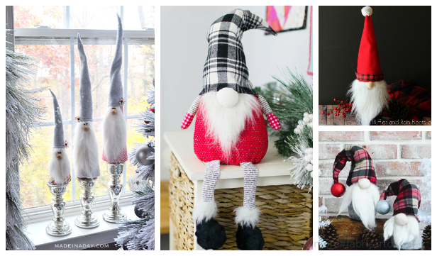 DIY Fabric Christmas Gnome Free Sewing Patterns & Tutorials