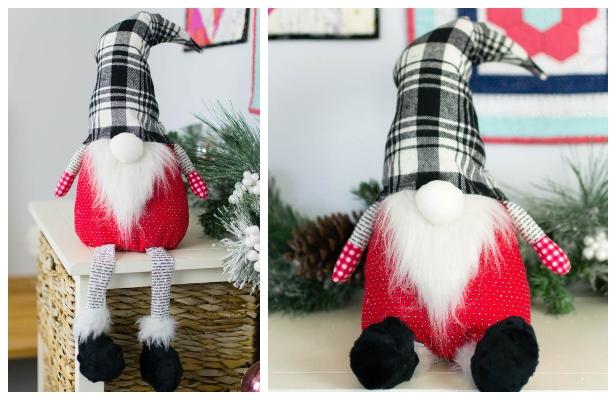 DIY Christmas Gnome Free Sewing Pattern & Tutorial