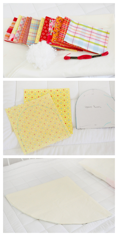 DIY Puffy Sun Baby Playmat Free Sewing TutorialTutorialee-Sewing-Pattern-f2