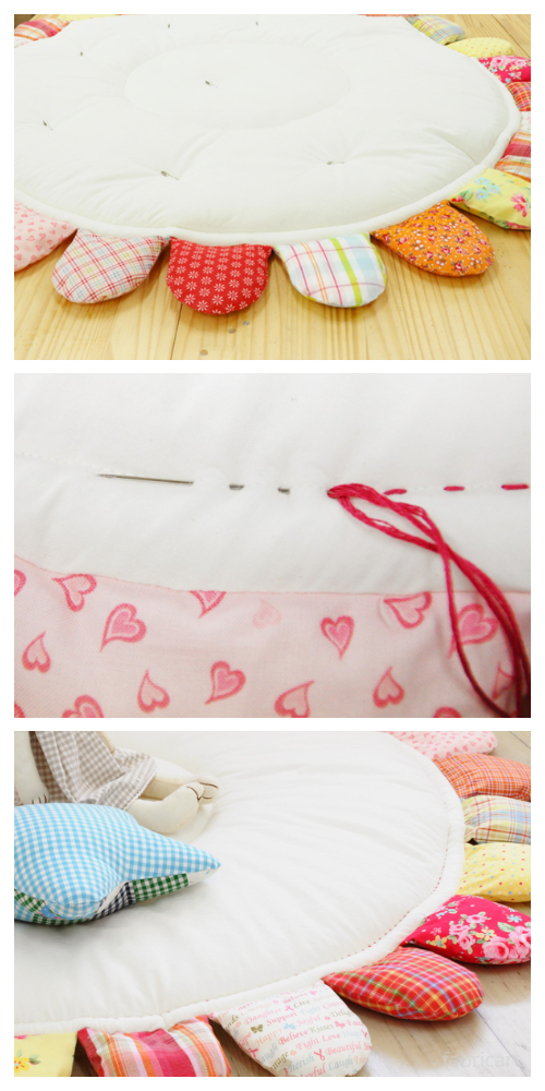 DIY Puffy Sun Baby Playmat Free Sewing Tutorial
