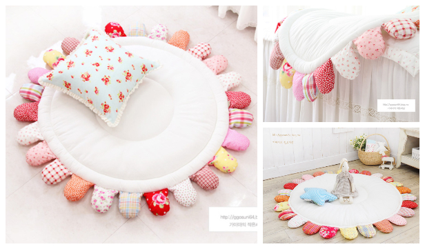 DIY Puffy Sun Baby Playmat Free Sewing Tutorial