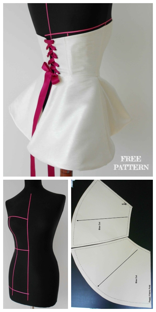 DIY Corset Top Free Sewing Patterns