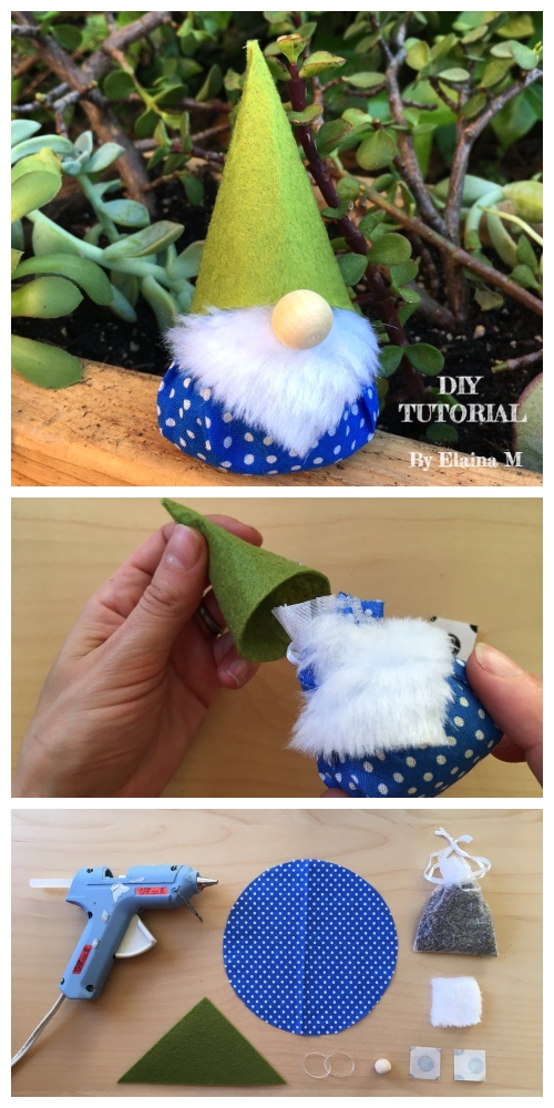 DIY Scented Christmas Gnome Free Sewing Pattern & Tutorial