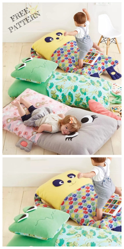 DIY Kids Dump truck Floor Pillow Free Sewing Patterns