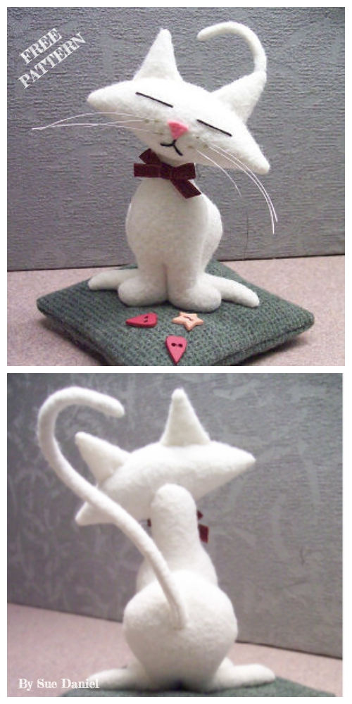 DIY Kitty Cat Pincushion Free Sewing Patterns & Tutorials