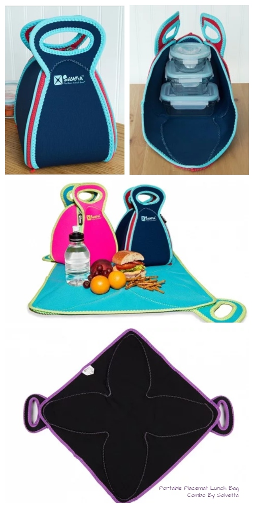 Portable Placemat Lunch Bag Combo