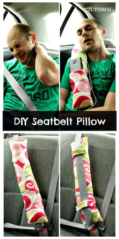 DIY Seat Belt Travel Pillow Free Sewing Patterns + Video