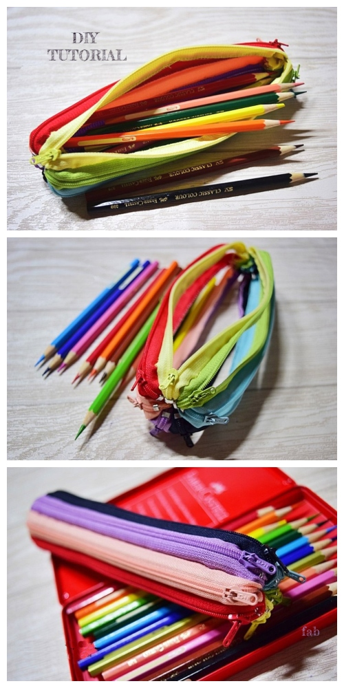 DIY Zipper Around Pencil Case Free Sewing Tutorial