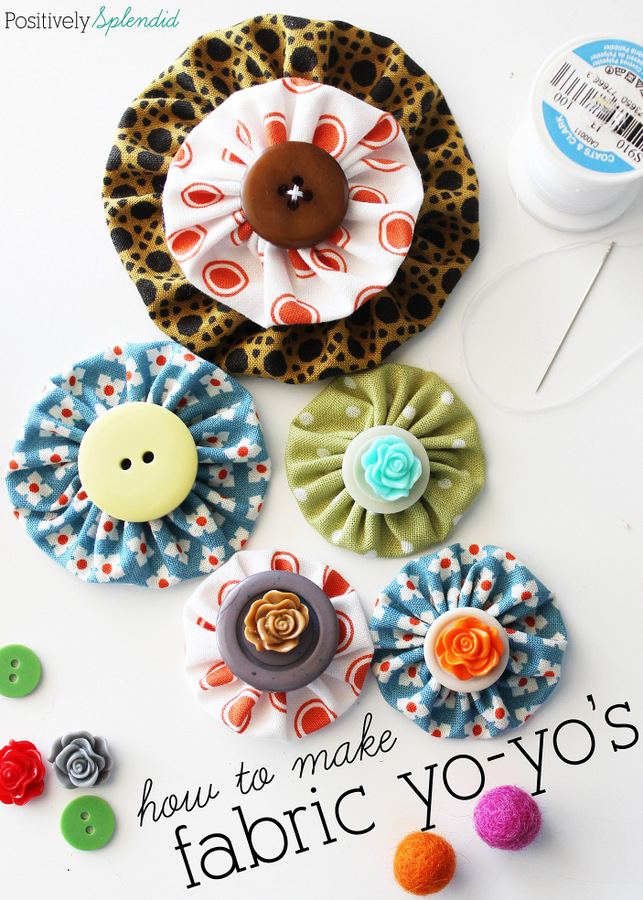 How to Make Perfect Fabric Yoyos DIY Tutorial