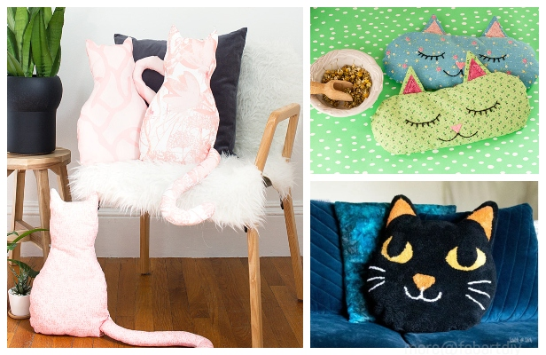 DIY Cat Pillow Free Sewing Patterns & Tutorials