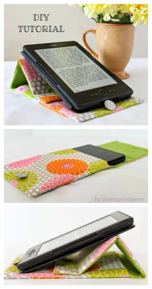 DIY Prop-Up Tablet/iPad Cover Stand Case Free Sewing Pattern