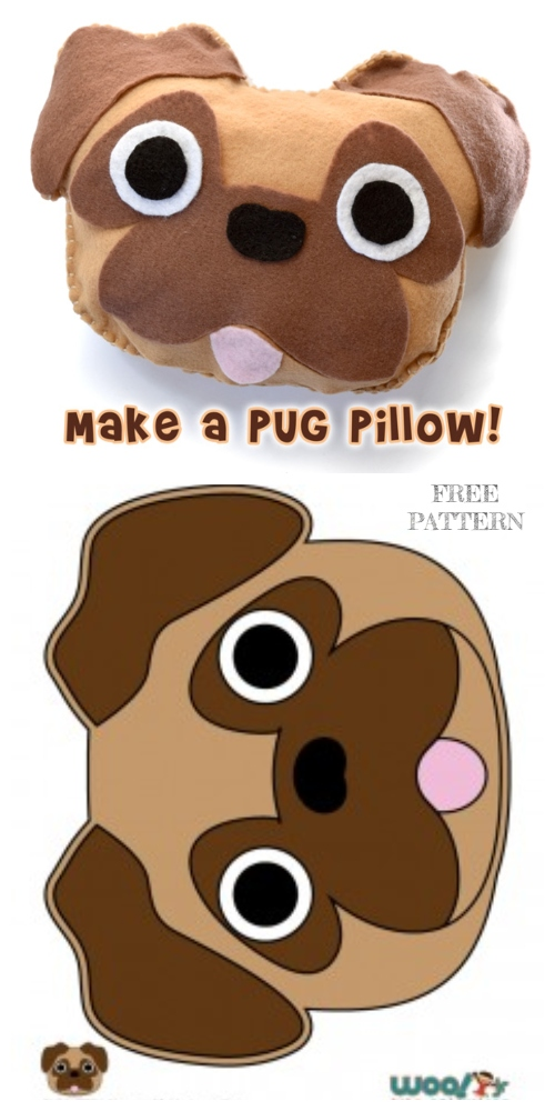 DIY Easy Decorative Dog Pillow Free Sewing Pattern & Tutorial