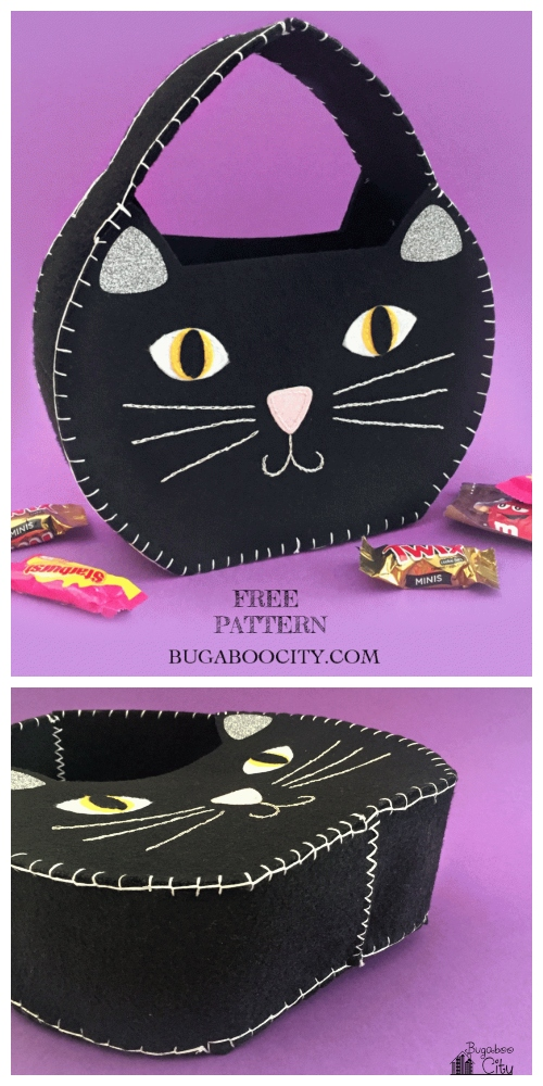 DIY Halloween Kids Cat Treat Bag Free Sewing Patterns