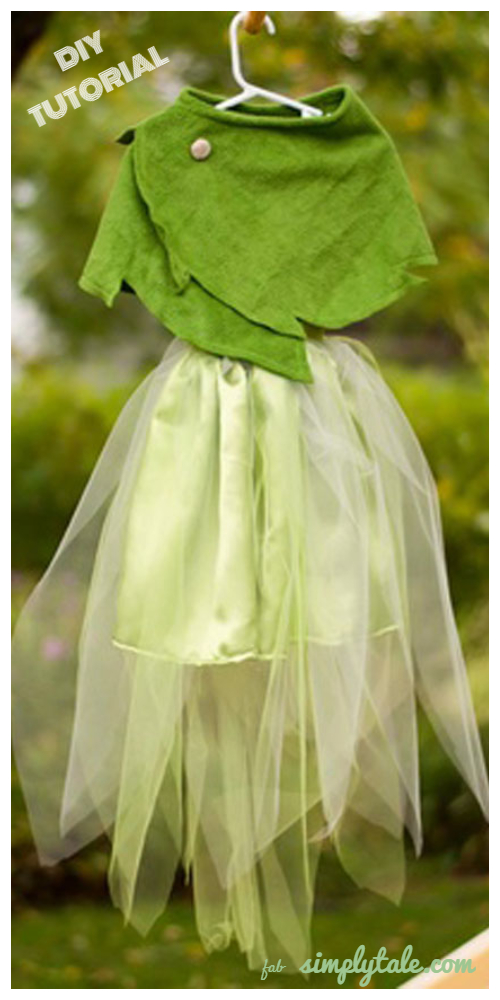 DIY Halloween Tinkerbell Shawl Costume Tutorial