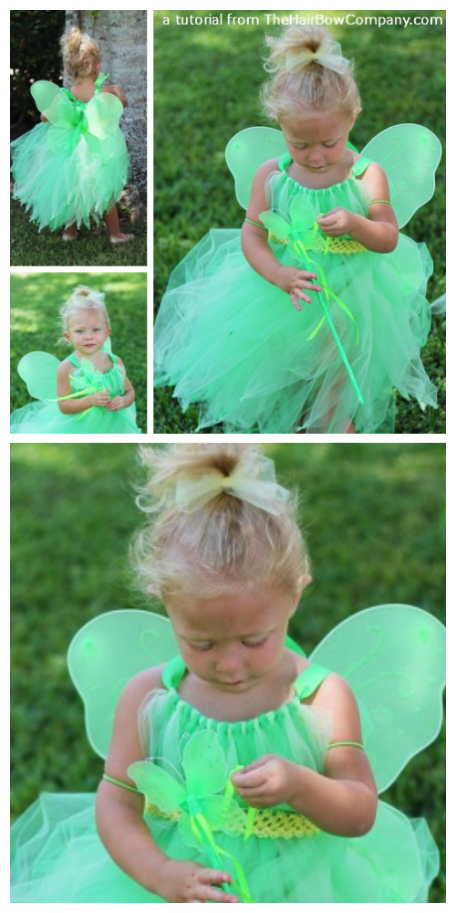 DIY Halloween Fairy Tutu Dress Costume Tutorial
