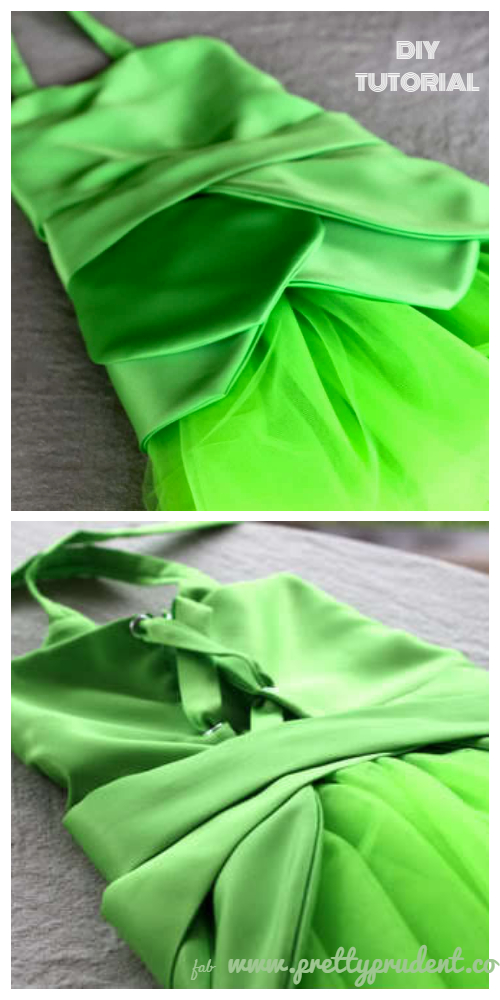DIY Halloween Tinkerbell Fairy Costume Tutorial