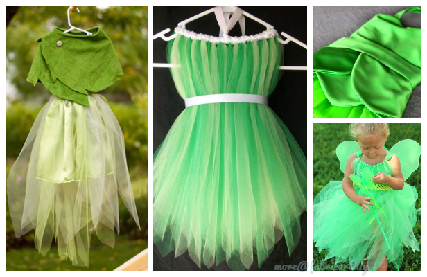 DIY Halloween Tinkerbell Costume Tutorials for Kids and Adults