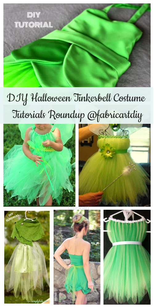DIY Halloween Tinkerbell Costume Tutorials