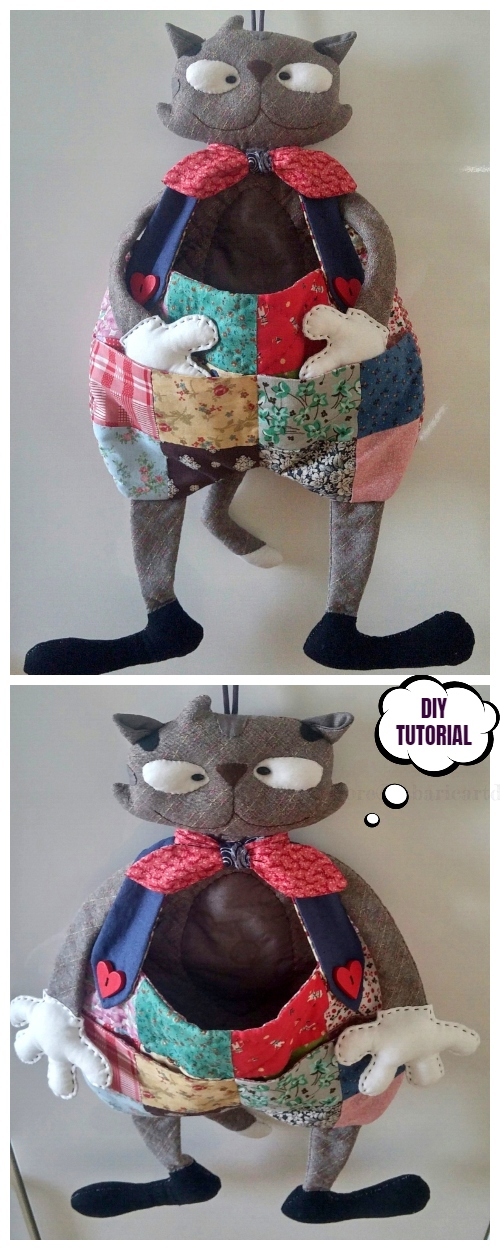 DIY Hanging Patchwork Cat Toy Free Sewing Patterns