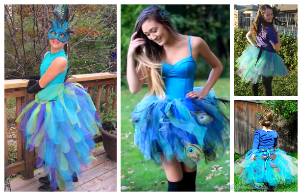 DIY Peacock Tutu Skirt Free Tutorials + Video
