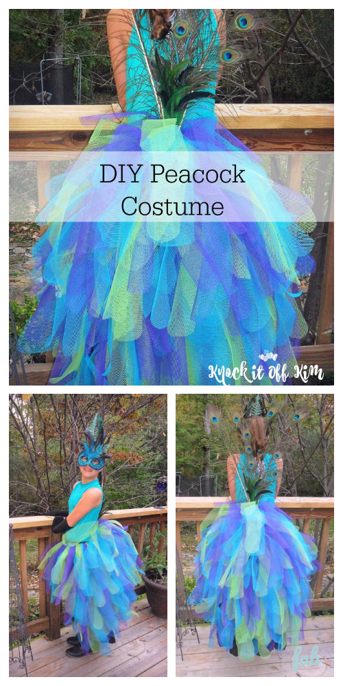 DIY Majestic Peacock Costume Free Tutorial