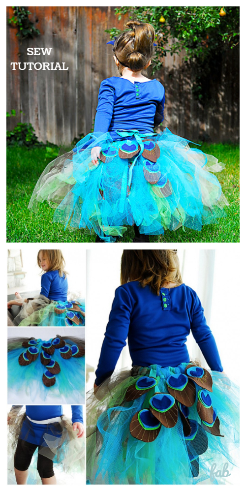 DIY The Pretty Peacock Tutu Costume Free Tutorial