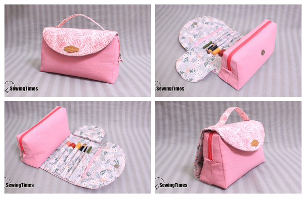 DIY Roll Up Cosmetic Bag Free Sewing Pattern + Video