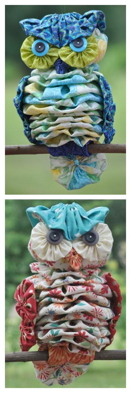DIY YoYo Owl Sewing Pattern & Tutorial