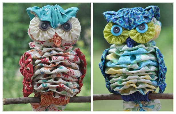 DIY YoYo Owl Sewing Pattern & Tutorial