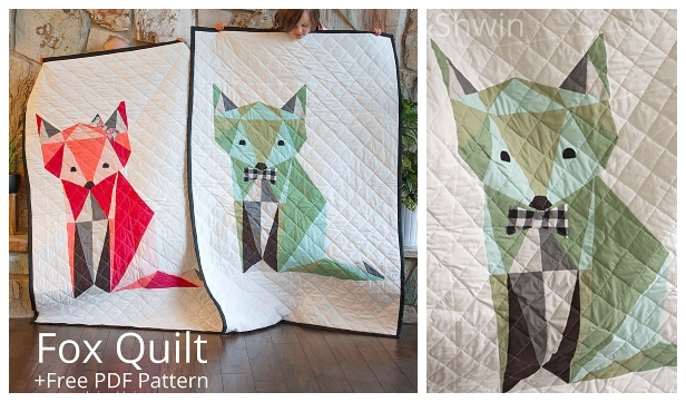 DIY Fox Quilt Free Sewing Pattern