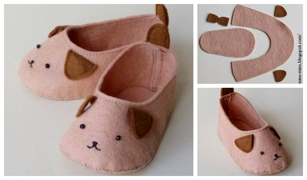 DIY Baby Puppy Slippers Free Sewing Pattern + Tutorial