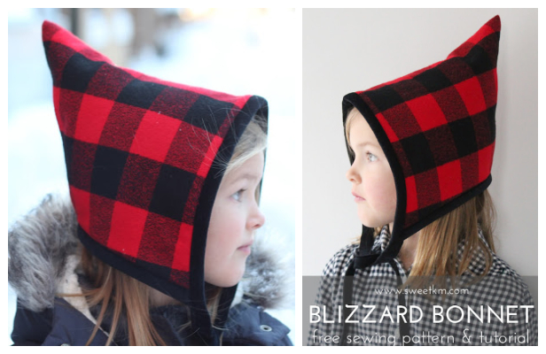 DIY Blizzard Bonnet Hat Free Sewing Pattern