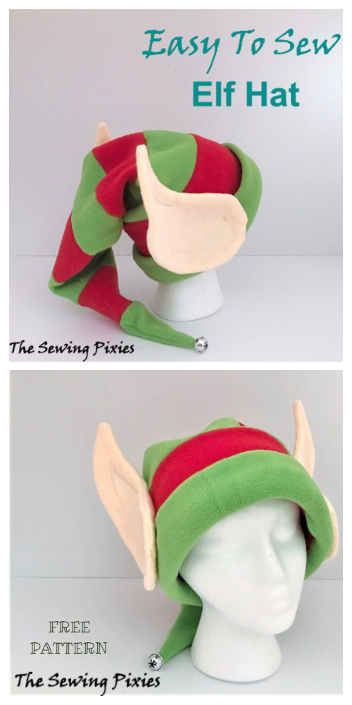DIY Christmas Elf Hat Free Sewing Patterns & Tutorials
