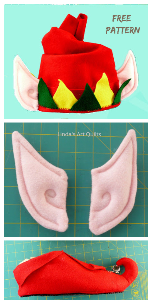DIY Elf Hat Slippers Costume Set Free Sewing Patterns & Tutorials