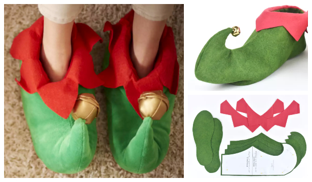 DIY Christmas Elf Shoes Free Sewing Patterns