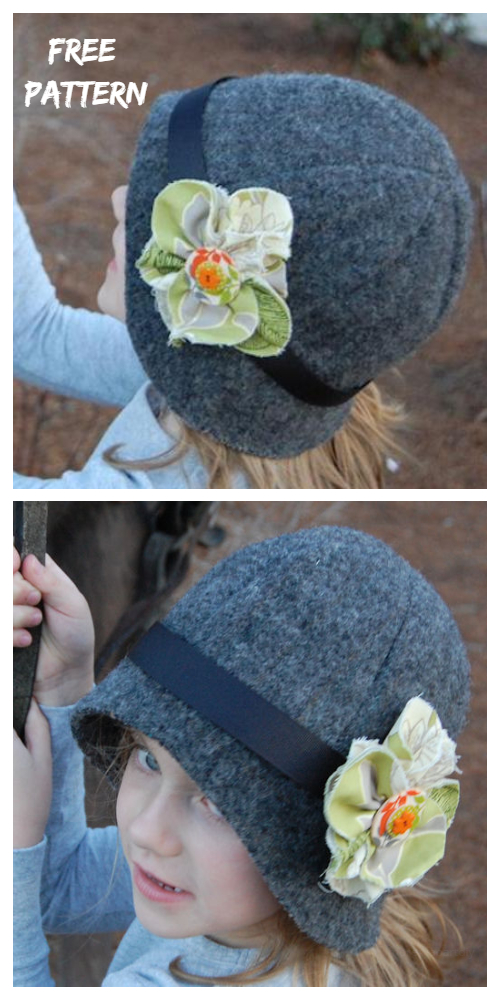 DIY Girls Cloche Hat Free Sewing Patterns
