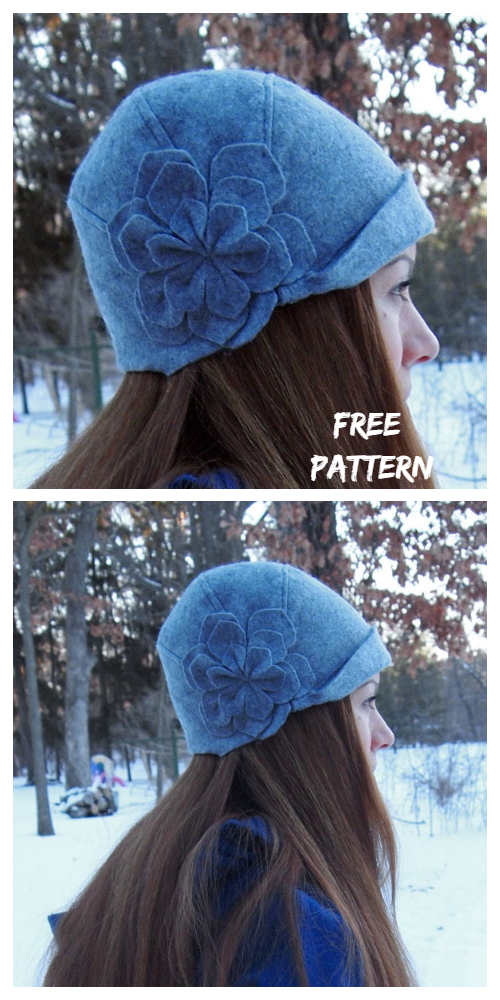 DIY Cute Flower Cloche Hat Free Sewing Patterns