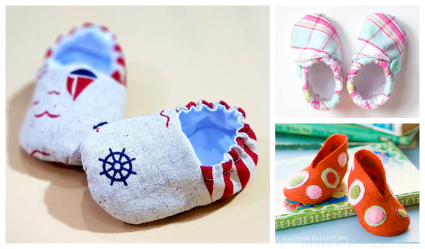 DIY Fabric Baby Crib Bitty Booties Free Sewing Pattern +Tutorial
