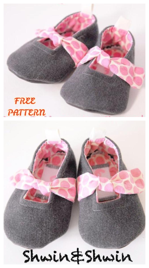 DIY Fabric Forget Me Knot Baby Booties Free Sewing Pattern +Tutorial