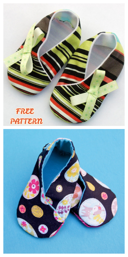 DIY Fabric Baby Kimono Booties Free Sewing Patterns