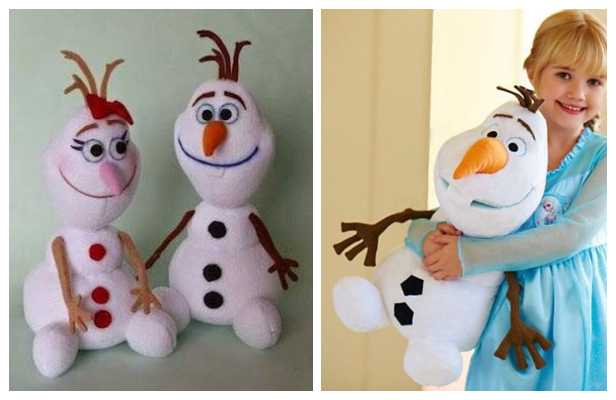 DIY Fabric Frozen Olaf Snowman Free Sewing Patterns
