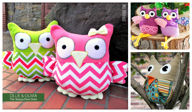 DIY Fabric Owl Toy Free Sew Patterns+ Tutorials