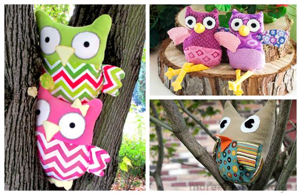 DIY Fabric Owl Toy Free Sew Patterns+ Tutorials