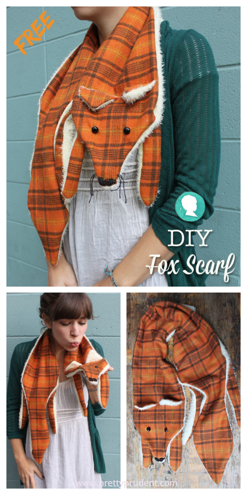 DIY Fox Scarf Free Sewing Pattern + Tutorial